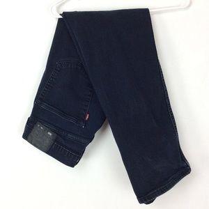 Black 505 straight leg Levi's  jeans